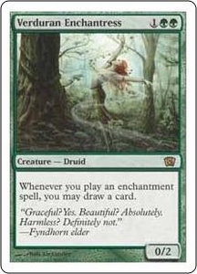 Magic the Gathering Eighth Edition Single Card Rare #285 Verduran Enchantress