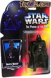 Star Wars Power of the Force Red Card Darth Vader Long Lightsaber Variant Damaged Package, Mint Contents!
