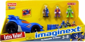 Imaginext DC Super Friends Exclusive Batmobile & Villains [Includes Two-Face, Joker, Riddler, 2x Batman & Robin]