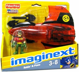 Imaginext Exclusive DC Super Friends Robin with Plane