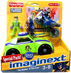 Imaginext DC Super Friends Exclusive Vehicle, DVD & Figure Special Pack [Riddler & Two-Face Figures]