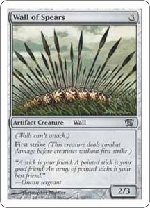 Magic the Gathering Eighth Edition Single Card Uncommon #320 Wall of Spears