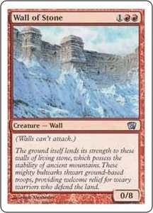 Magic the Gathering Eighth Edition Single Card Uncommon #232 Wall of Stone