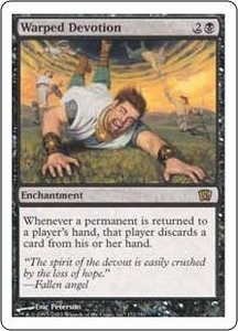 Magic the Gathering Eighth Edition Single Card Rare #172 Warped Devotion