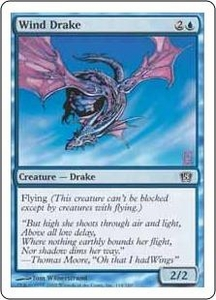 Magic the Gathering Eighth Edition Single Card Common #114 Wind Drake