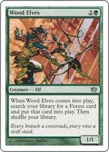 Magic the Gathering Eighth Edition Single Card Common #289 Wood Elves