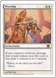 Magic the Gathering Eighth Edition Single Card Rare #57 Worship