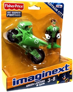 Imaginext DC Super Friends Exclusive Gotham City Green Lantern & Cycle