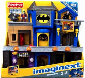 Imaginext DC Super Friends Exclusive Gotham City Playset [Includes Joker & Bruce Wayne!]