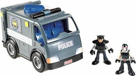 Imaginext DC Super Friends Exclusive Gotham City GCPD Officer, Bane & SWAT Vehicle