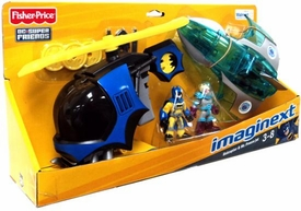 Imaginext DC Super Friends Exclusive 2-Pack Batcopter & Mr. Freeze Jet
