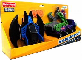 Imaginext DC Super Friends Exclusive 2-Pack Batwing & Joker Hauler