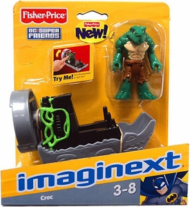 Imaginext DC Super Friends Figure Croc & Fan Boat