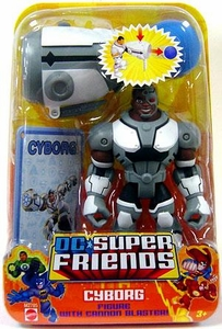 DC Super Friends Action Figure Cyborg with Cannon Blaster