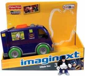 Imaginext DC Super Friends LOOSE Villain Van [Includes Penguin] Damaged Package, Incomplete Contents!