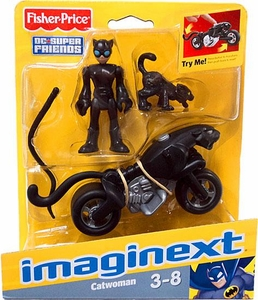 Imaginext DC Super Friends Figure Catwoman with Cat & Motorcycle