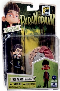 ParaNorman 2012 SDCC Comic Con Exclusive 4 Inch Figurine Norman In Pajamas
