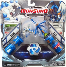 Monsuno Combat 2-Pack Lock & Evo {Core-Tech Team Pack} [2 Figures, 2 Cores & 6 Cards]