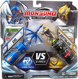 Monsuno Combat 2-Pack Evo {Core-Tech} VS Driftblade {S.T.O.R.M} [2 Figures, 2 Cores & 6 Cards]