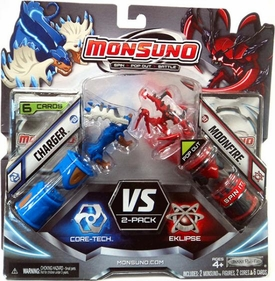 Monsuno Combat 2-Pack Charger {Core-Tech} VS Moonfire {Eklipse} [2 Figures, 2 Cores & 6 Cards] BLOWOUT SALE!