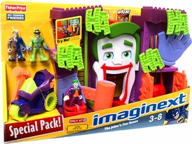 Imaginext DC Super Friends Exclusive Special Pack Joker's Fun House Playset [Includes Joker, Two-Face, Riddler & Hammer Bike]