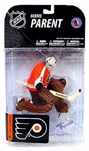 McFarlane Toys NHL Sports Picks Series 19 Action Figure Bernie Parent (Philadelphia Flyers) Orange Jersey