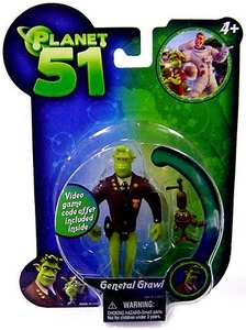 Planet 51 Movie Toy Mini Figure General Grawl