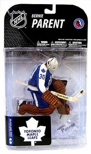 McFarlane Toys NHL Sports Picks Series 19 Action Figure Bernie Parent (Toronto Maple Leafs) Blue Jersey Variant