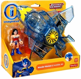 Imaginext DC Justice League Exclusive Figure Wonder Woman & Invisible Jet