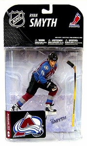 McFarlane Toys NHL Sports Picks Series 19 Action Figure Ryan Smyth (Colorado Avalanche) Blue Jersey