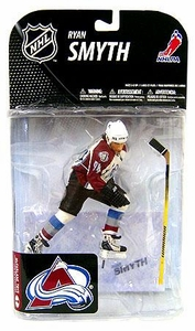McFarlane Toys NHL Sports Picks Series 19 Action Figure Ryan Smyth (Colorado Avalanche) White Jersey Variant