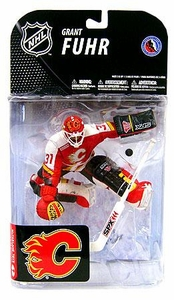McFarlane Toys NHL Sports Picks Series 19 Action Figure Grant Fuhr (Calgary Flames) Red Jersey
