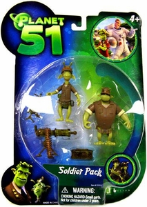 Planet 51 Movie Toy Mini Figure 2-Pack Soldier Pack B