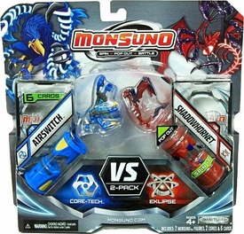 Monsuno Combat 2-Pack Airswitch {Core-Tech} VS Shadowhornet {Eklipse} [2 Figures, 2 Cores & 6 Cards]