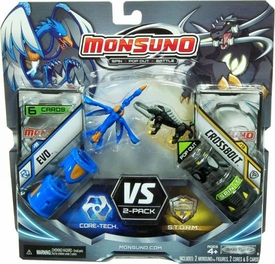 Monsuno Combat 2-Pack Evo {Core-Tech} VS Crossbolt {S.T.O.R.M} [2 Figures, 2 Cores & 6 Cards]