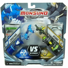 Monsuno Combat 2-Pack LongFang {Core-Tech} VS Hydro {S.T.O.R.M.} [2 Figures, 2 Cores & 6 Cards]