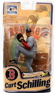 McFarlane Toys MLB Cooperstown Series 8 Action Figure Curt Schilling (Boston Red Sox)
