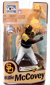 McFarlane Toys MLB Cooperstown Series 8 Action Figure Willie McCovey (San Diego Padres) '76 Padres Road Brown Silver Collector Level Chase Only 750 Made!