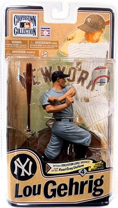 McFarlane Toys MLB Cooperstown Series 8 Action Figure Lou Gehrig (New York Yankees) Grey Uniform Bronze Collector Level Chase Only 2,000 Made!
