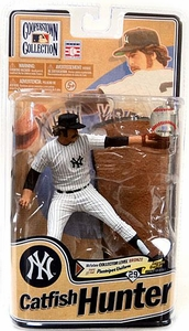 McFarlane Toys MLB Cooperstown Series 8 Action Figure Catfish Hunter (New York Yankees) Bronze Collector Level Chase Only 2,000 Made!