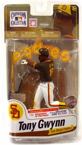McFarlane Toys MLB Cooperstown Series 7 Action Figure Tony Gwynn (San Diego Padres) Brown Jersey