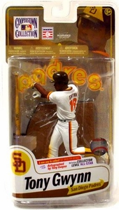 McFarlane Toys MLB Cooperstown Series 7 Action Figure Tony Gwynn (San Diego Padres) White Jersey Variant