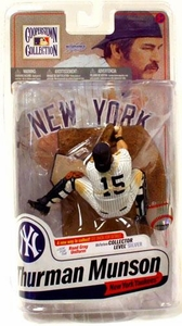 McFarlane Toys MLB Cooperstown Series 7 Action Figure Thurman Munson (New York Yankees) Pinstripes Uniform