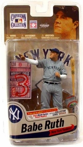 McFarlane Toys MLB Cooperstown Series 7 Action Figure Babe Ruth (New York Yankees)   1932 World Series Ticket Replica Bronze Collector Level Chase Only 1,000 Made!