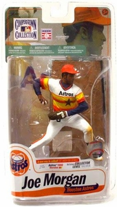 McFarlane Toys MLB Cooperstown Series 7 Action Figure Joe Morgan (Houston Astros) Rainbow Jersey Silver Collector Level Chase Only 750 Made!