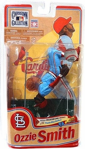 McFarlane Toys MLB Cooperstown Series 8 Action Figure Ozzie Smith (St. Louis Cardinals) Powder Blue Uniform Bronze Collector Level Chase Only 2,000 Made!