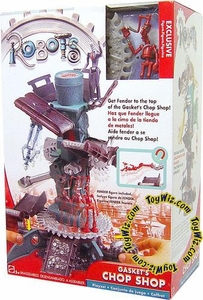 Robots the Movie Playset Gasket's Chop Shop with Exclusive Fender Figure