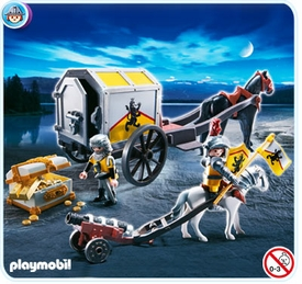 Playmobil Knights Set #4874 Lion Knights' Treasure Transport