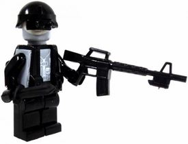 COBI Blocks LOOSE Minifigure Covert Ops with Night Vision, Assault Rifle & Knife