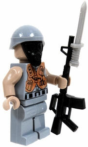 COBI Blocks LOOSE Minifigure RIOT Officer with Gas Mask, Assault Rifle & Bayonet